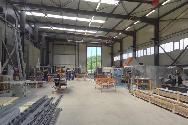 Výrobná hala METICON a. s. výroba presklených fasád