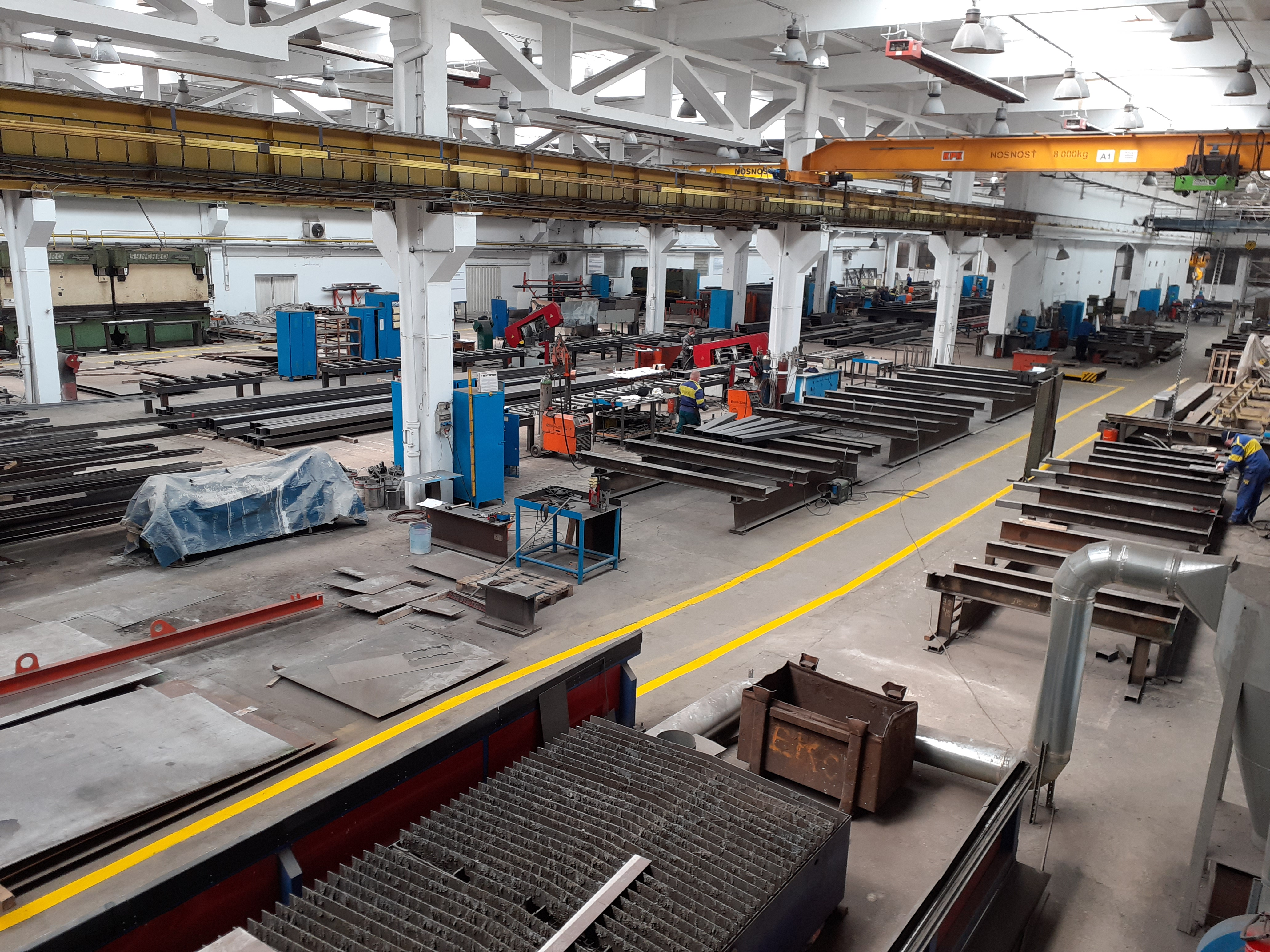 Výrobná hala METICON a. s. výroba oceľových konštrukcií