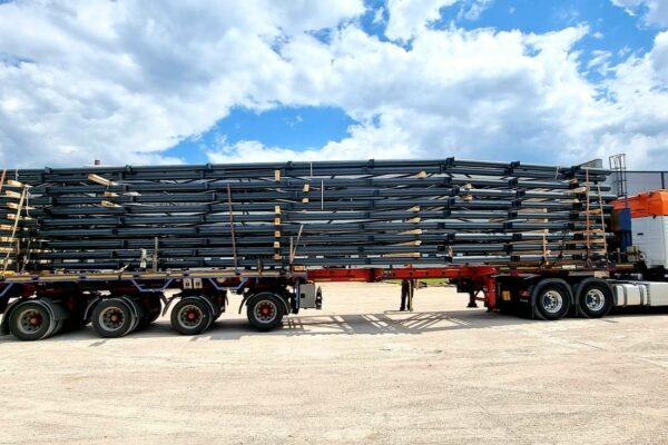 preprava ocelovej konstrukcie